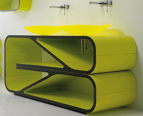 baño verde de diseño